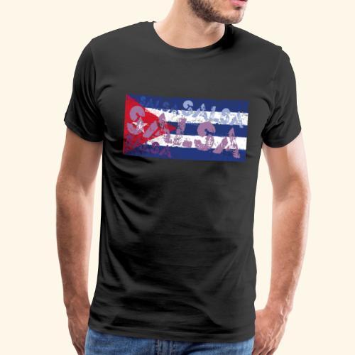 Cuban salsa and Cuban flag dance shirt - Men's Premium T-Shirt