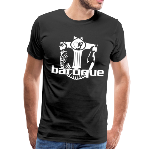 Baroque Records Logo Black - Männer Premium T-Shirt