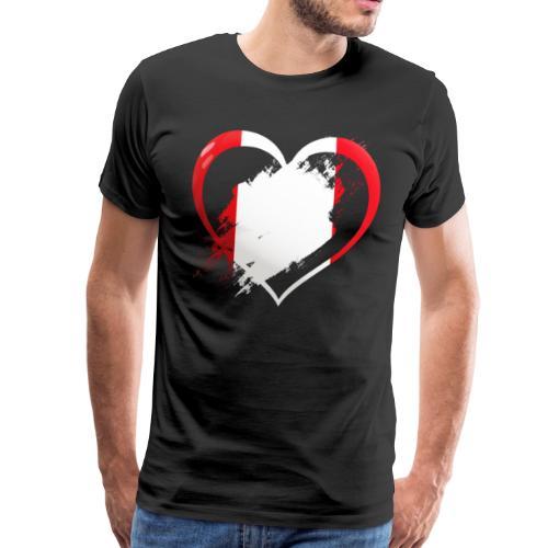 Herz Peru V2 - Männer Premium T-Shirt