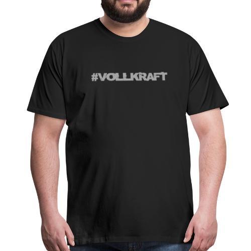 Vollkraft Schriftzug grau - Männer Premium T-Shirt