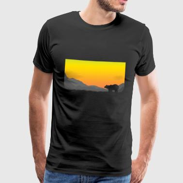 Sonnenaufgang Eisbär - Männer Premium T-Shirt