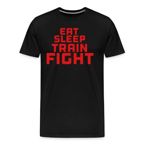 Eat sleep train fight - Men's Premium T-Shirt