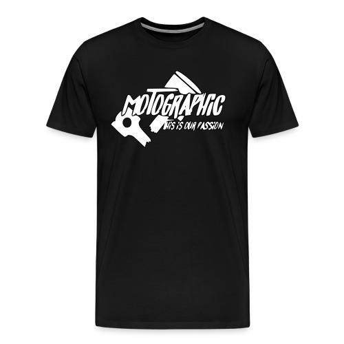 MotoGraphic logo wit zwart - Mannen Premium T-shirt