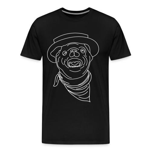 Pølsa The Cow-Pug - Premium T-skjorte for menn