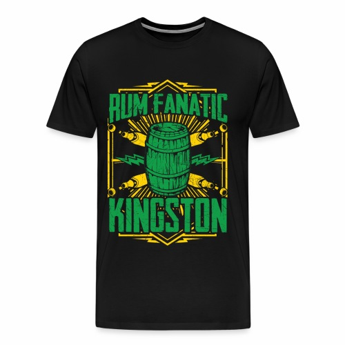 T-shirt Rum Fanatic - Kingston, Jamajka - Koszulka męska Premium