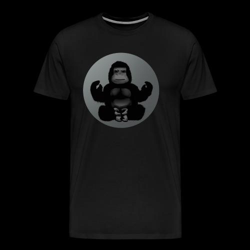 gorilla yoga meditation lotus entspannung - Männer Premium T-Shirt