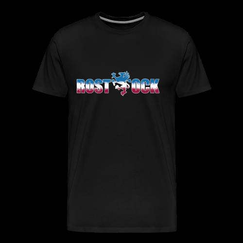 Rostock Schriftzug mit Greif - Männer Premium T-Shirt