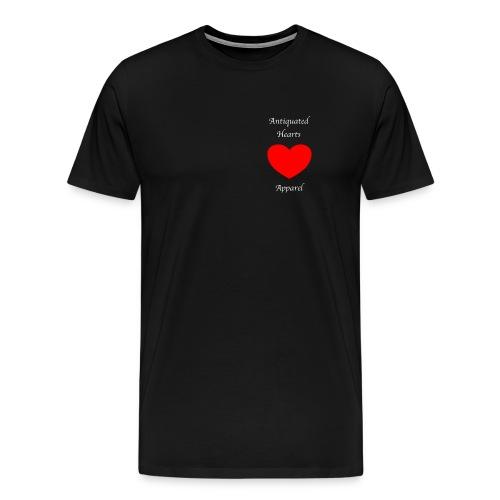 Antiquated Hearts Gothic White Lettering - Men's Premium T-Shirt