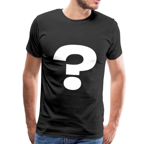 FRAGEZEICHEN white - Männer Premium T-Shirt