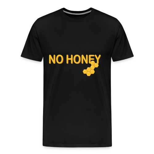 kein Honig vegan biene wabe veganismus idee - Männer Premium T-Shirt