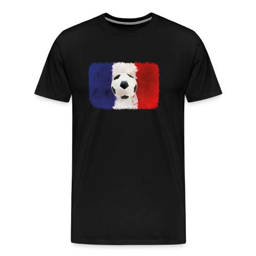 Fußball mit künstlerischer Französischer Flagge. - Männer Premium T-Shirt