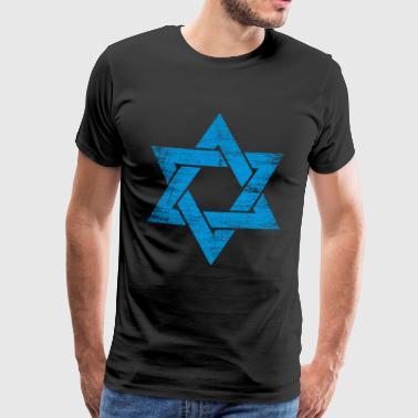 Star of Israel - Davidstern Geschenk - Männer Premium T-Shirt