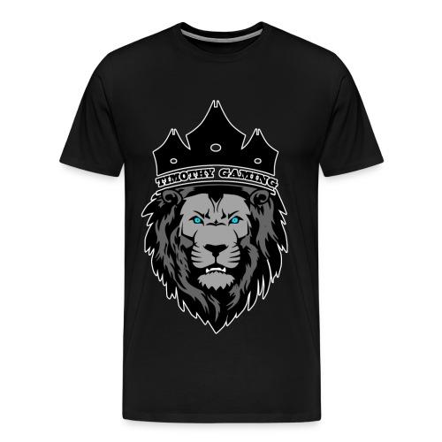Timothy99NL, Witte Iijn Om Het Logo - Mannen Premium T-shirt