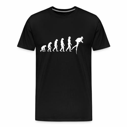 Tauchen Evolution Hobby Freizeit Leidenschaft - Männer Premium T-Shirt