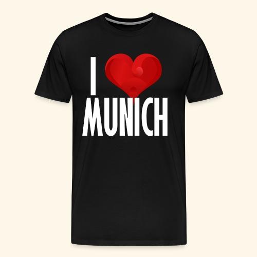 ICH LIEBE MUENCHEN weiss - Männer Premium T-Shirt