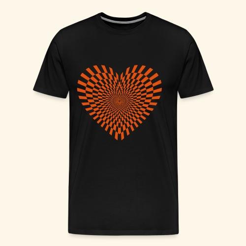 Dimensionales Herz - Männer Premium T-Shirt