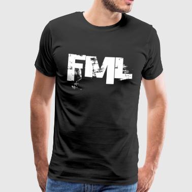 FML - Faen My Life - Premium T-skjorte for menn