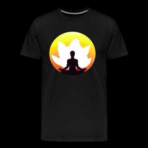 yoga meditation lotus lotusblüte - Männer Premium T-Shirt