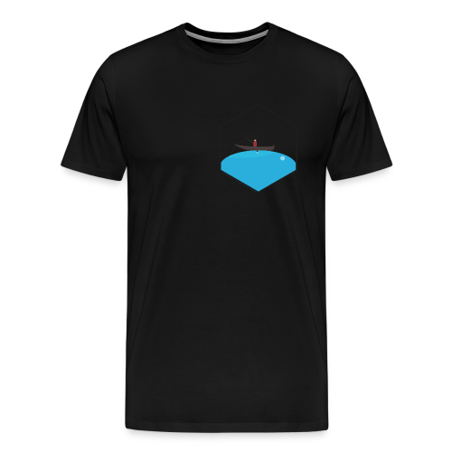 Angler auf Wassertropfen - Männer Premium T-Shirt