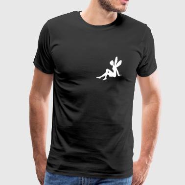 sittende Fee - Premium T-skjorte for menn