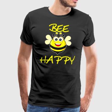 Bee Happy saying bee Happy design gift - Men's Premium T-Shirt