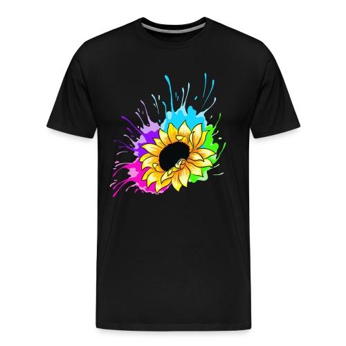 Sonnenblume Splash - Männer Premium T-Shirt