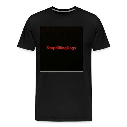 StopKillingDogs Aufschrift - Männer Premium T-Shirt