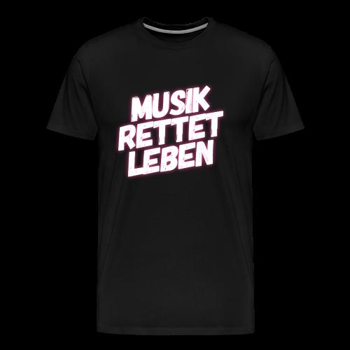 MUSIK RETTET LEBEN LOGO PINK - Männer Premium T-Shirt