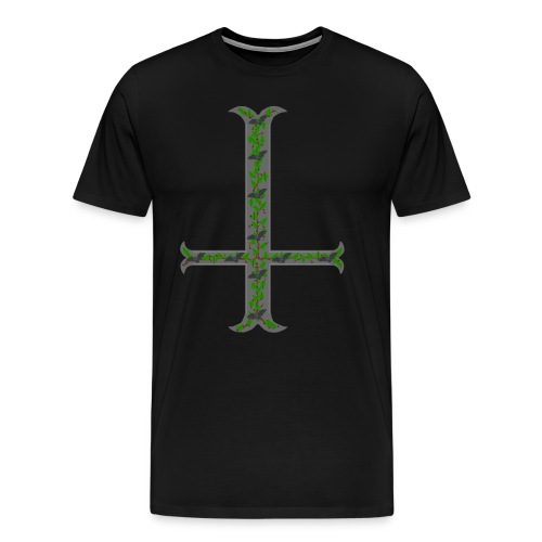 Kreuz mit Fledermäuse - Männer Premium T-Shirt