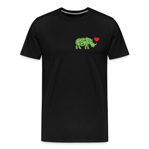 Russell Rhino Green Leaf - Men's Premium T-Shirt