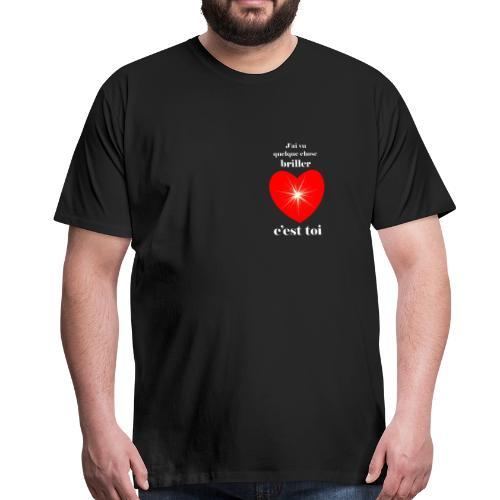 Coeur brillant ...amoureux ou inspiré FS - T-shirt Premium Homme