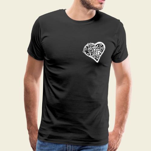 Vergissmeinnicht-Herz mit weißem Hintergrund - Männer Premium T-Shirt
