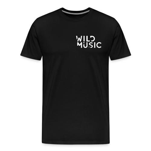 Wild Music Logo - Blanco - Camiseta premium hombre
