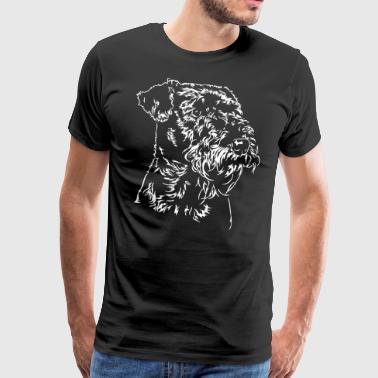 AIREDALE TERRIER Portrait Wilsigns - Männer Premium T-Shirt