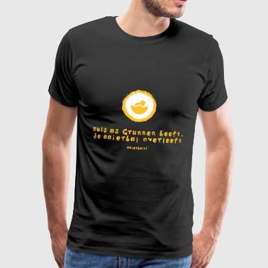 grunn_beeft-_aaierbal_overleeft - Männer Premium T-Shirt
