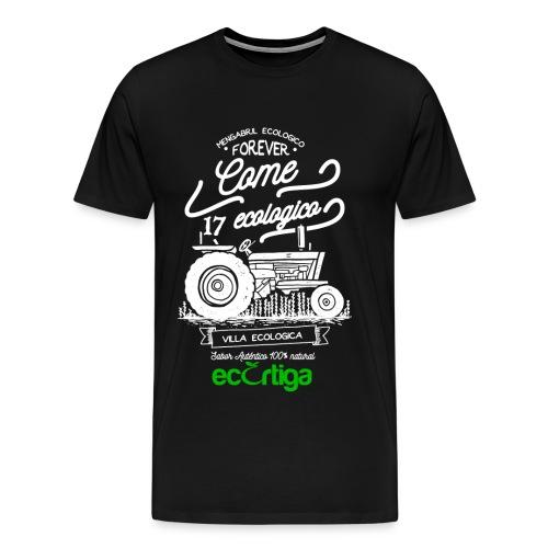 old tractor ecortiga white - Camiseta premium hombre