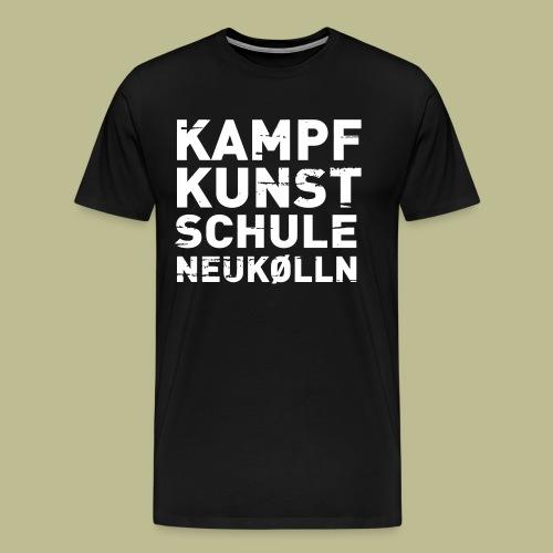 Kampfkunstschule Neukölln Logo ohne Hintergrund - Männer Premium T-Shirt