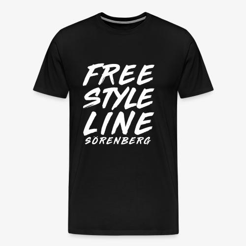 line brush white - Männer Premium T-Shirt