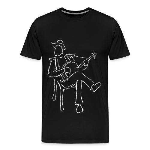 lonelyartists: lonely banjoist - Maglietta Premium da uomo