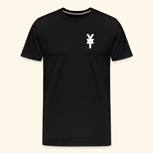XY Logo White - Men's Premium T-Shirt