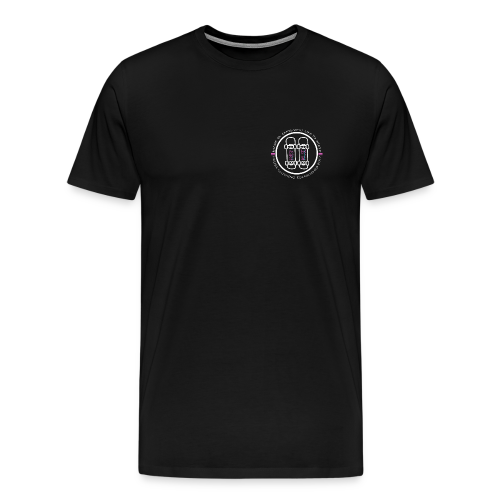 White Pause Circular Logo - Men's Premium T-Shirt