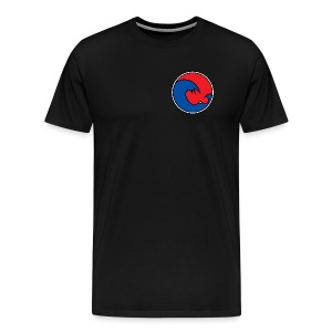 201 605 Wave Logo (PADI Red / Blue PADI) - Men's Premium T-Shirt