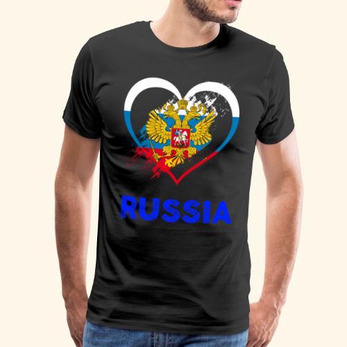 Russland Herz V3 - Männer Premium T-Shirt