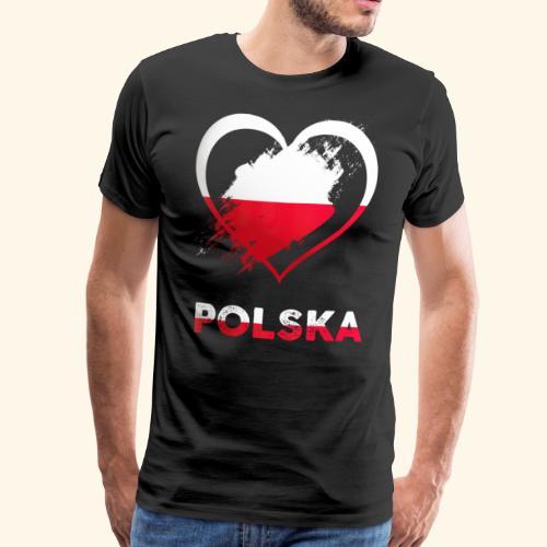 Polen Herz - Männer Premium T-Shirt