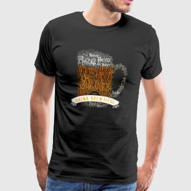 olut kolpakko juoma brewtiful kirjoitusvirhe vaahto mies - Miesten premium t-paita