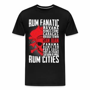 T-shirt Rum Fanatic - San Juan, Puerto Rico - Koszulka męska Premium