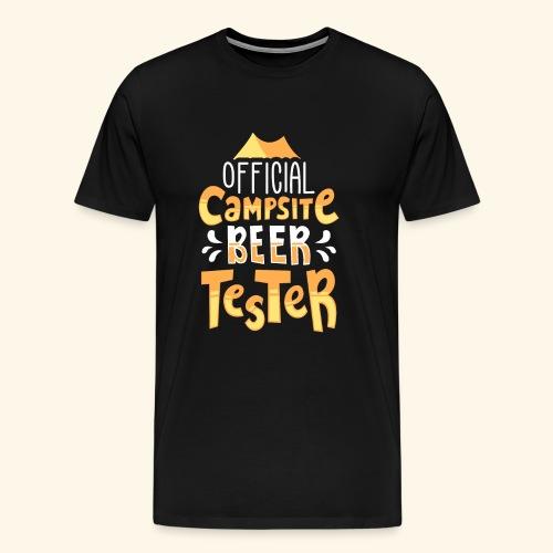 Offizieller Camping Bier-Tester Tees SHIRT - Männer Premium T-Shirt