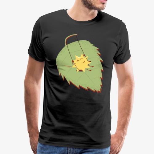 Sonne im Herbstlaub - Männer Premium T-Shirt