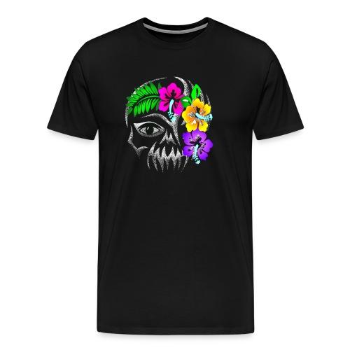 Alien Flower Skull - Männer Premium T-Shirt