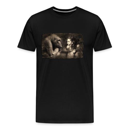 Girl & Monkey - Men's Premium T-Shirt